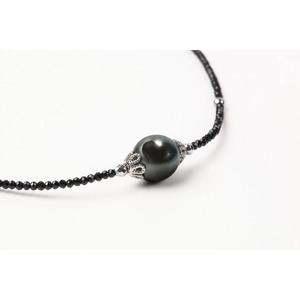 11mm黒真珠ネックレス