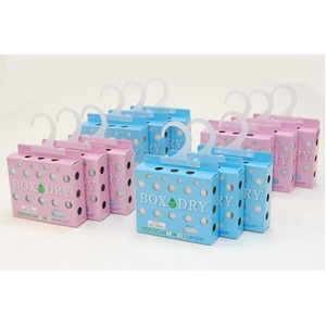 TEIJIN(テイジン) ベルオアシス センサー付き除湿 ボックスドライ 6個入り(ピンク3個、ブルー3個)