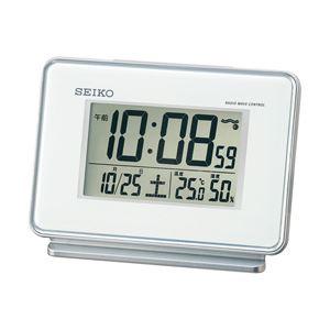 SEIKO(セイコー) 温湿度計付きデジタル電波目覚まし時計 SQ767W 1個