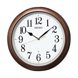 SEIKO(セイコー) 電波掛時計 ブラウン KX812B 1個