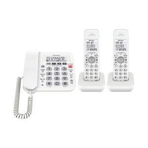 パイオニア デジタルコードレス留守番電話機 TF-SA10W-W ホワイト 子機2台付き