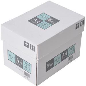 APPJ カラーペーパー ブルー A4箱 500枚×5冊 型番:CPB001ハコ