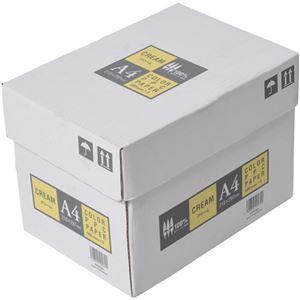 APPJ カラーペーパー クリーム A4箱 500枚×5冊 型番:CPY001ハコ