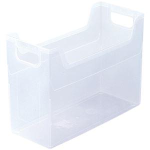ナカバヤシ ファイルボックス クリア A4 1箱(24個) 型番:FB-E4-CRNハコ