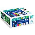 エプソン対応 エコリカ リサイクル インクカートリッジ 6色パック 対応純正型番:IC6CL70L 単位:1個
