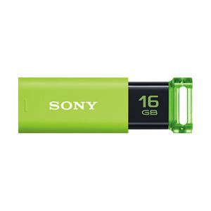 ソニー USBポケットビットUシリーズ 16GB グリーン USM16GU G 1個