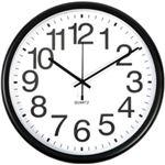 オフィスデポオリジナル niceday 掛時計 ブラック 直径34.3cm 1個