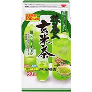 (まとめ)のむらの茶園 緑のまろやか抹茶入玄米茶 三角ティーパック【×20セット】