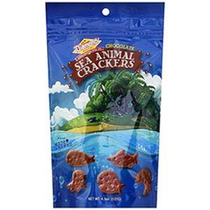 (まとめ)ダイアモンドベーカリー シーアニマルクラッカー チョコレート 大 1袋(127g)【×5セット】