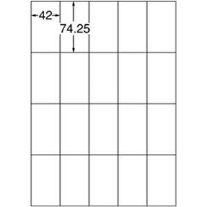 (まとめ)スリーエムジャパン エーワン  ラベルシール[プリンタ兼用] A4ホワイト 1パック(20面 1片サイズ:42×74.25mm 22シート入) 72220【×5セット】