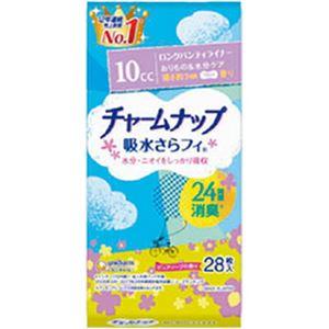 (まとめ)ユニ・チャーム チャームナップ吸水サラフィー ロングライナー ソープの香り 1袋(28枚)【×10セット】