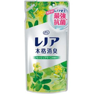 (まとめ)P&G レノア 本格消臭フレッシュグリーン 詰替え 1パック(450ml)【×10セット】