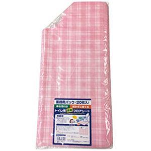 (まとめ)フロンティア  トイレフロア消臭シート ピンク 1パック(20枚)【×3セット】