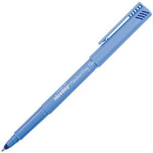 (まとめ)オフィスデポオリジナル niceday 水性ペン(ウォッシャブル) 0.6mm 青 1パック(2本)【×50セット】