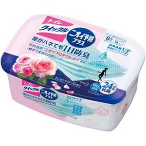 (まとめ)花王 トイレクイックルニオイ予防プラス エレガントローズ 容器 1個(8枚)【×10セット】
