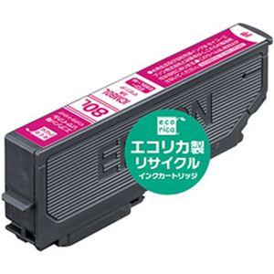 (まとめ)エコリカ リサイクルインクカートリッジ (エプソン ICM80L互換) マゼンタ 1個【×5セット】