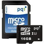 (まとめ)PQIMicroSDHCカード 16GB Class10 UHS-I対応 MS10U11-16H 1枚【×5セット】