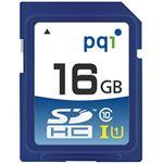 (まとめ)PQI SDHCカード 16GB Class10 UHS-I対応 SD10U11-16 1枚【×5セット】