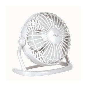 (業務用セット)ナカバヤシ Digio2 USB 扇風機 スタビリティ UA-046W ホワイト【×2セット】