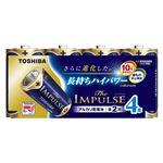 東芝 アルカリ乾電池 ザ・インパルス まとめパック LR14HS 4MP 4本