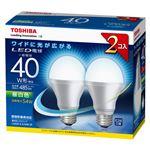 東芝 E-CORE LED電球 一般電球形 広配光タイプ 全光束485lm LDA5N-G-K/40W-2P 2個