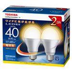 東芝 E-CORE LED電球 一般電球形 広配光タイプ 全光束485lm LDA7L-G-K/40W-2P 2個