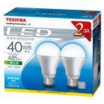 東芝 E-CORE LED電球 一般電球形 下方向タイプ 全光束485lm LDA6N/H-2P 2個