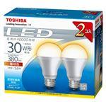 東芝 E-CORE LED電球 一般電球形 下方向タイプ 全光束380lm LDA6L/H-2P 2個