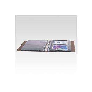 テージー コレクションアルバム B5判タテ型(4穴バインダー) CA-30-08 茶 1冊