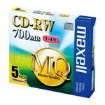 maxell PC DATA用 CD-RW 1-4倍速対応 CDRW80MQ.S1P5S 5枚