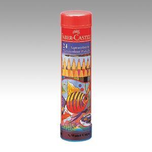 ファーバーカステル水彩色鉛筆 丸缶 TFC-115924 1セット
