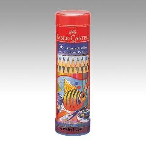 ファーバーカステル水彩色鉛筆 丸缶 TFC-115936 1セット
