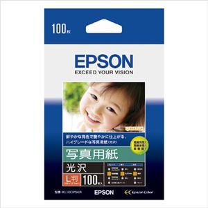 エプソン(EPSON)純正プリンタ用紙 写真用紙(光沢) KL100PSKR 100枚