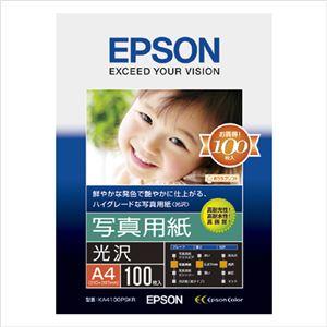 エプソン(EPSON)純正プリンタ用紙 写真用紙(光沢) KA4100PSKR 100枚