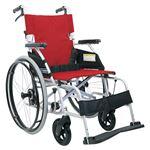 カワムラサイクル アルミ自走車いす 赤チェック BML22-40SB BML22-40SB NO.93