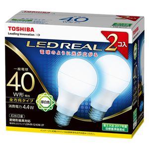 東芝 LED電球 一般電球形 全方向タイプ 485lm 昼白色2P LDA4N-G/40W-2P