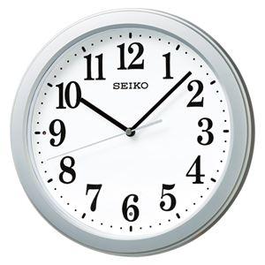 セイコー 電波掛時計 銀色メタリック KX379S