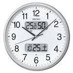 セイコー 電波アナログ掛時計 温湿度 カレンダー表示つき KX383S