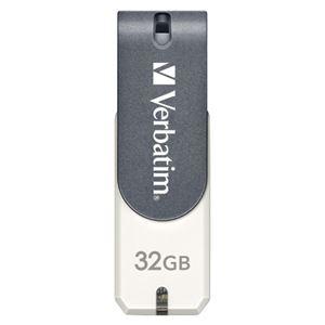 三菱化学メディア USBメモリ 32GB 回転式キャップ USBSM32GVWS3