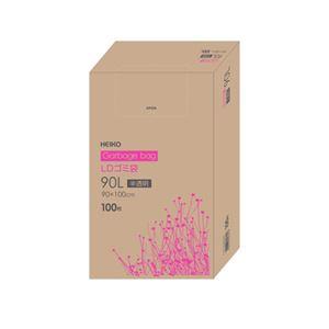 シモジマ LDゴミ袋 100枚入 90L 半透明 006605305