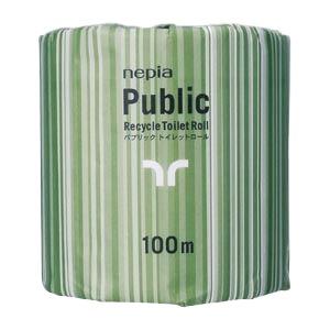 王子ネピア ネピアパブリックトイレットロール100m 80入 NP-1R100