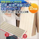除湿くんシリーズ 立体・除湿・消臭マット クローゼット・洋服タンス用2枚組み FIN-489