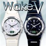 強力振動目覚まし腕時計WakeV(ウエイクブイ) ブラック