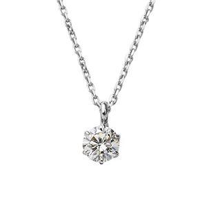 K18ホワイトゴールド 天然ダイヤモンドネックレス ダイヤ0.2CTネックレス
