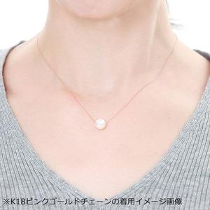 アコヤ真珠 ネックレス パールネックレス K18 ホワイトゴールド 8mm 8ミリ珠 40cm 長さ調節可能(アジャスター付き) あこや真珠 ペンダント パール 本真珠
