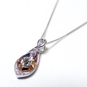ダイヤモンド ネックレス 0.12ct K18 ピンクゴールド&ホワイトゴールド ハート&キューピット H&C Hカラー SIクラス GOOD 揺れる ダイヤモンド ペンダント 鑑別書付き 限定1点限り