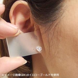 ダイヤモンド ピアス 0.3ct K18 イエローゴールド 0.3カラット ハート ダイヤ ピアス スタッド シンプル ハートデザイン