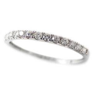 ダイヤモンド リング ハーフエタニティ 0.15ct 12号 プラチナ Pt950 0.15カラット シンプル 細身 エタニティリング 指輪 鑑別カード付き