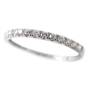 ダイヤモンド リング ハーフエタニティ 0.15ct 14号 プラチナ Pt950 0.15カラット シンプル 細身 エタニティリング 指輪 鑑別カード付き