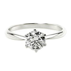 ダイヤモンド リング 一粒 1カラット 15号 プラチナPt900 Dカラー SI2クラス Excellent H&C エクセレント ハート&キューピット ダイヤリング 指輪 大粒 1ct 鑑定書付き